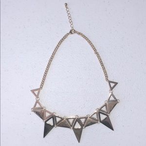 Women's Forever21 Gold Triangle Necklace